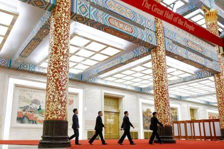 As chinas leaders gather market reform hopes fade communist party spokesman tuo zhen and other officials arrive at a media briefing one day ahead malvernweather Gallery