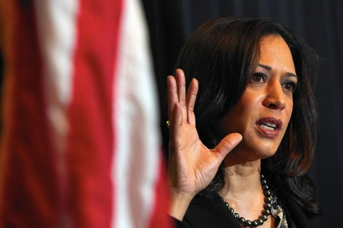 """The nation's first Black female vice presidential candidate, Kamala Harris. <span class=""""copyright"""">(Irfan Khan / Los Angeles Times)</span>"""