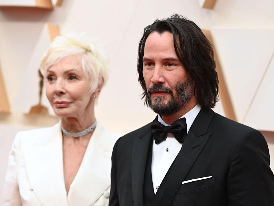 Keanu Reeves and his mother Patricia Taylor at the Oscars.