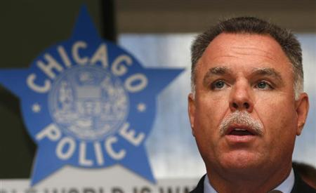 Chicago Police Superintendent Garry McCarthy speaks on illegal firearms seizure at a news conference in Chicago, Illinois