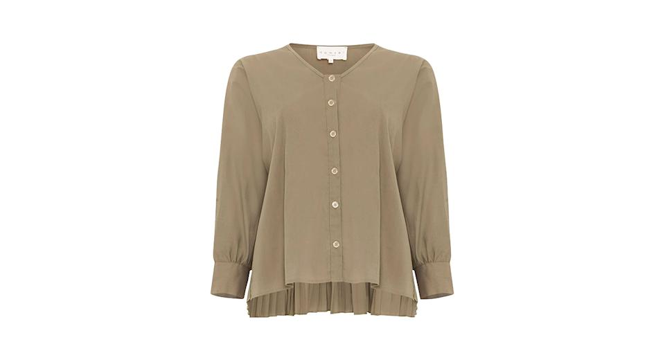 Kym Pleat Back Shirt