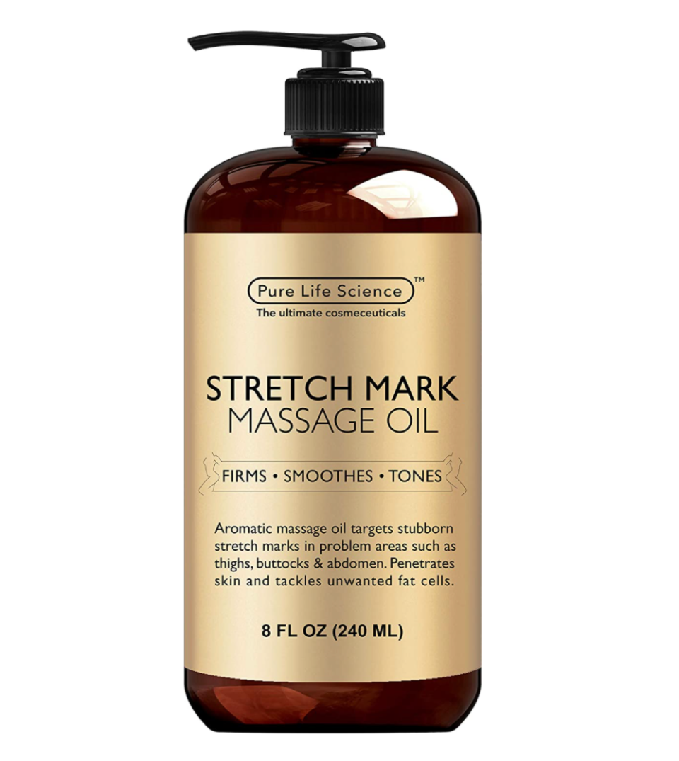 Pure Science Stretch Mark Massage Oil (Photo via Amazon)