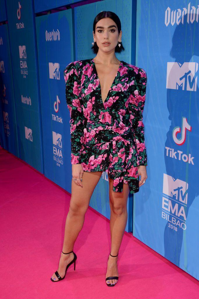 <p>Lipa wore Saint Laurent to the MTV EMAs.</p>
