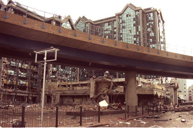 Dockland bombing site