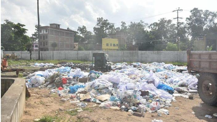 PPE kits were discarded just outside some hospitals in Bihar