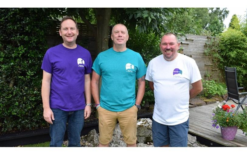 Three Dads Walking: Tim Owen, Mike Palmer and Andy Airey (GoFundMe)