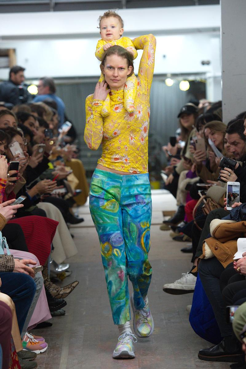 Collina Strada made an adorable exception to the New York Fashion Week's age restrictions at their fall/winter show during New York Fashion Week in February 2019.