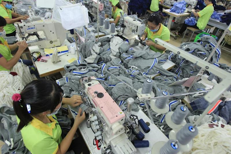 Garment workers in Vietnam