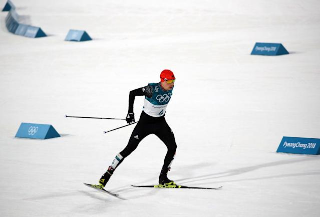 Nordic Combined Events - Pyeongchang 2018 Winter Olympics - Men's Individual 10 km Final - Alpensia Cross-Country Skiing Centre - Pyeongchang, South Korea - February 20, 2018 - Eric Frenzel of Germany in action. REUTERS/Carlos Barria