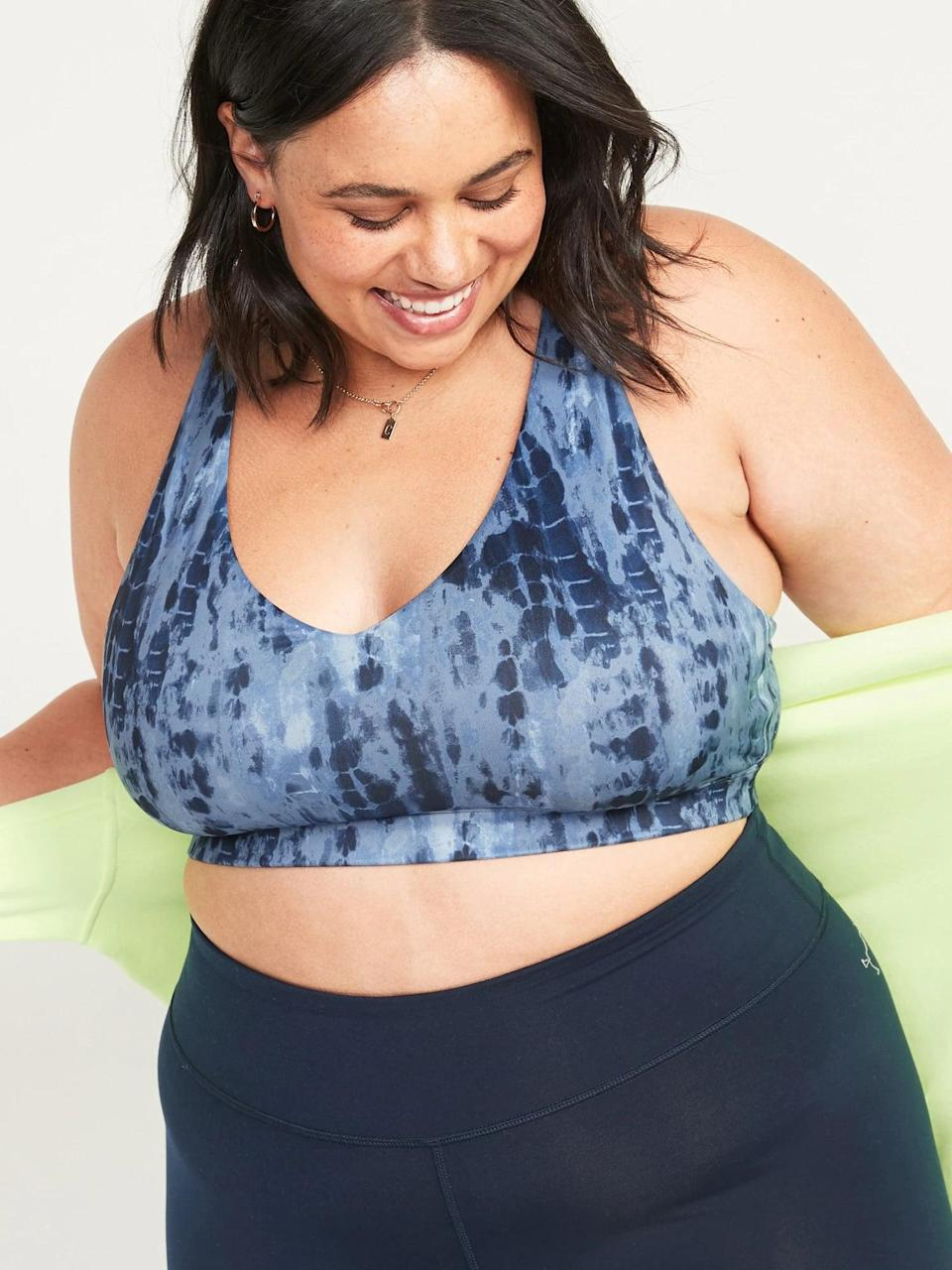 <p>Low-impact activities call for this <span>Old Navy Light Support Strappy Sports Bra</span> ($20).</p>