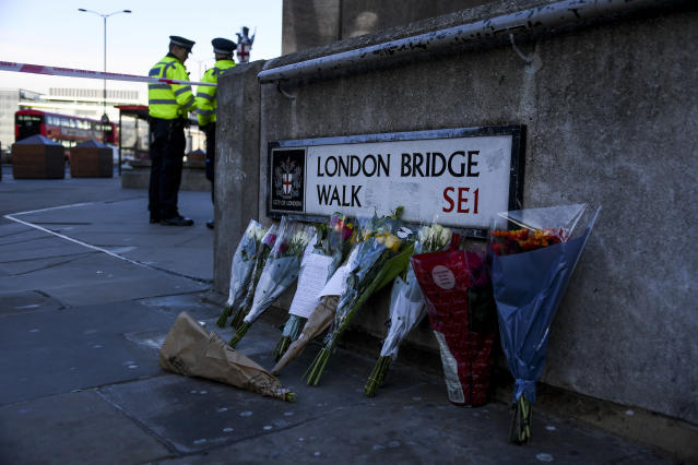 Police searched the man's home following the London Bridge terror attack on Friday. (AP)