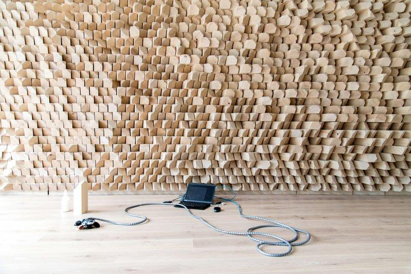 A computationally designed acoustic wall by Gramazio and Kohler