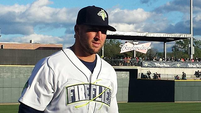 Mets general manager Sandy Alderson said Tebow deserved to the promotion since he has improved in low-A ball.