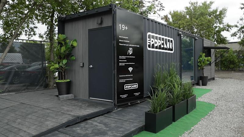 The retrofitted shipping container currently sits in a fenced off parking lot near the company's studio in Toronto's west end. (Yahoo Finance Canada)