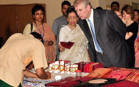Women's Interlink Foundation founder Aloka Mitra with Prince Andrew in Kolkata