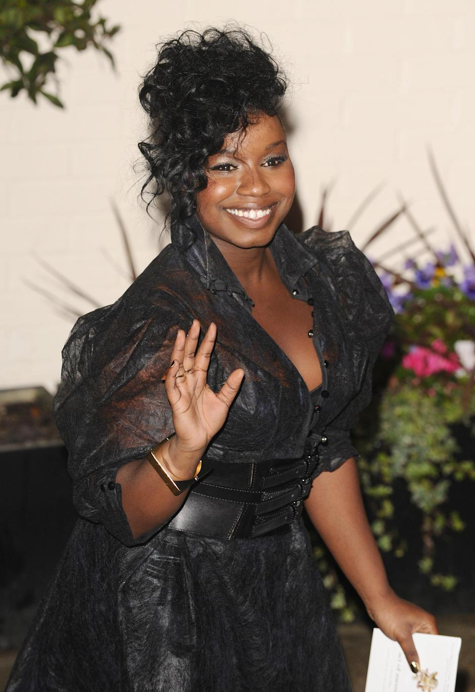Contestant Misha B leaves following the X Factor, at Fountain Studios, in Wembley.   (Photo by Dominic Lipinski/PA Images via Getty Images)