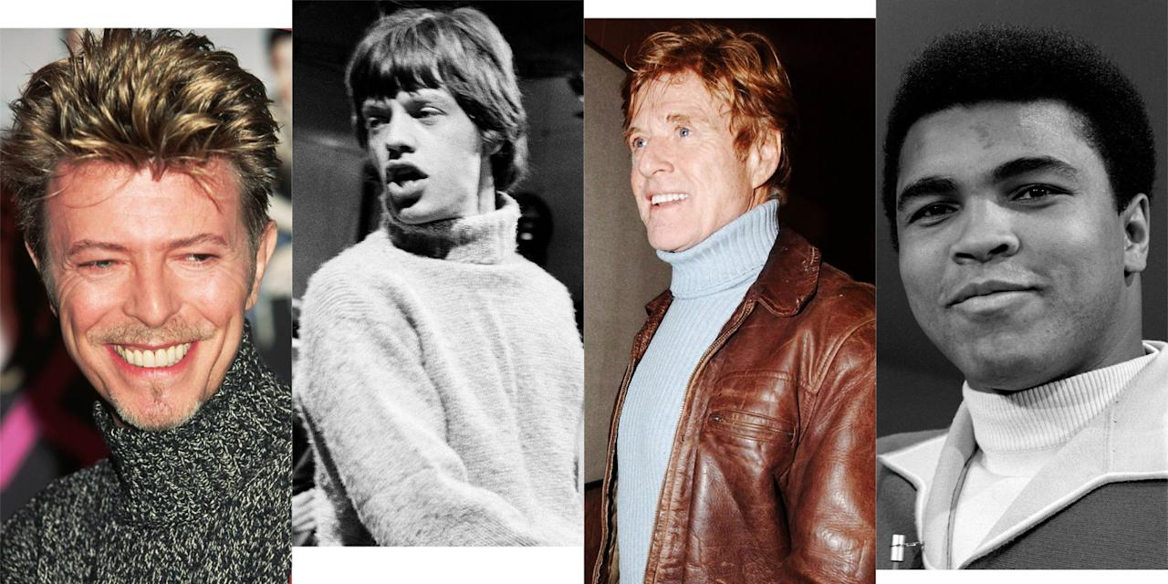 <p>Don't call it a comeback. The sweater that's having a moment in 2018 never really went away. And even though it went through some rough patches, famous men have been wearing the turtleneck—and wearing it well—for the better part of a century. Here's a look back at some of the best examples, from Clark Gable to Muhammad Ali.</p>