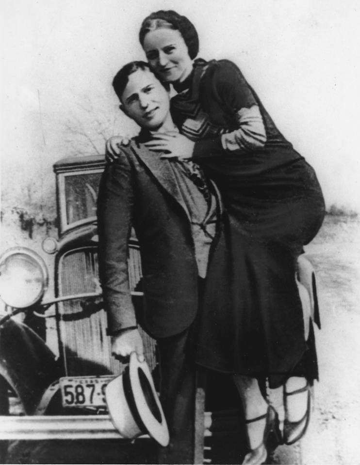 This is an undated photo of bandits Bonnie Parker and Clyde Barrow.  (AP Photo)