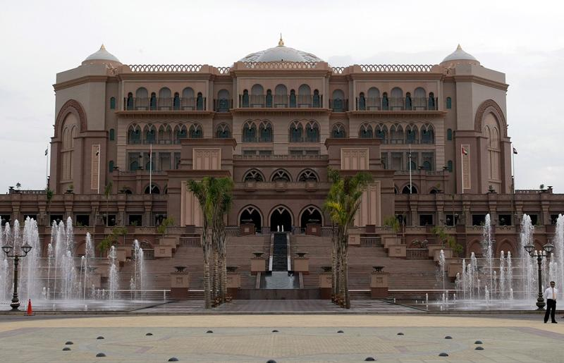 The Emirates Palace in the capital Abu Dhabi is the second most expensive hotel ever built. Photograph: AP /Roberto Pfeil