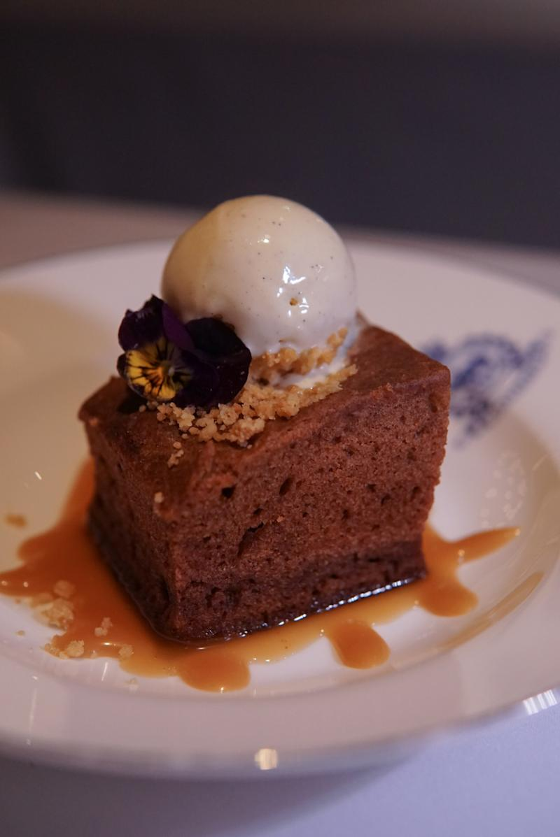 Sticky toffee pudding ($118)