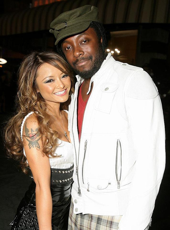 """Reality TV train wreck Tila Tequila and BEP frontman will.i.am get their snuggle on. Alexandra Wyman/<a href=""""http://www.wireimage.com"""" target=""""new"""">WireImage.com</a> - May 21, 2008"""