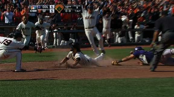 That happened: Giants' Angel Pagan delivers first walkoff inside-the-park home run since 2004