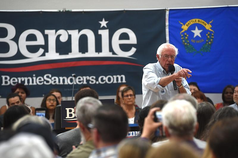 U.S. Senator and presidential candidate Bernie Sanders speaks during a campaign stop at the Carson City Community Center Gymnasium in Carson City, Nevada on Sept. 13, 2019.