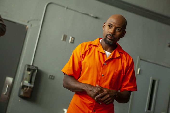 "Writer, director and star Romany Malco depicts life after prison with a satirical edge in ""Tijuana Jackson: Purpose Over Prison."" <span class=""copyright"">(Geoff Browne)</span>"