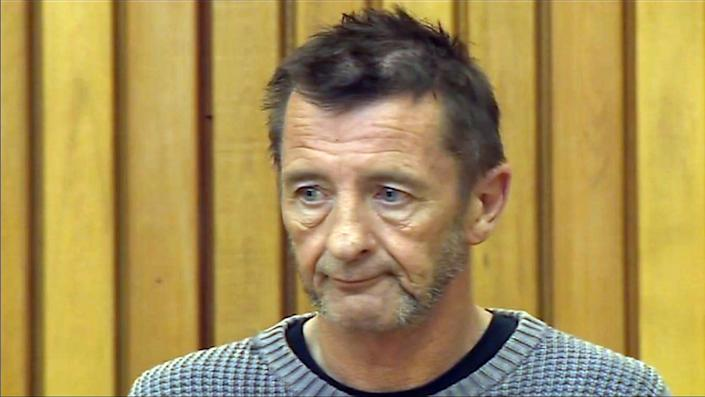 The drummer with legendary rock band AC/DC, Phil Rudd, attends a court hearing in Tauranga, New Zealand in this TV grab taken on November 6, 2014 and provided by TVNZ (AFP Photo/)