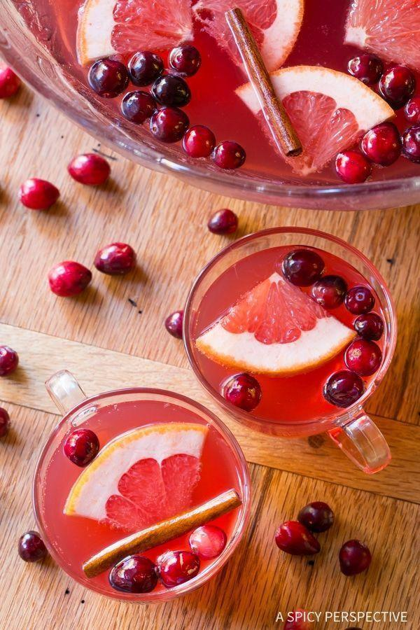 """<p>No, your eyes aren't deceiving you. This punch really only requires five ingredients—and the result is a winner for both color and taste.</p><p><strong>Get the recipe at <a href=""""https://www.aspicyperspective.com/holiday-champagne-punch/"""" rel=""""nofollow noopener"""" target=""""_blank"""" data-ylk=""""slk:A Spicy Perspective"""" class=""""link rapid-noclick-resp"""">A Spicy Perspective</a>.</strong> </p>"""