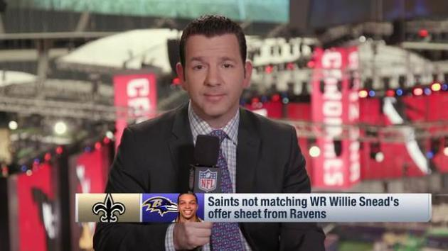 <p>NFL Network's Ian Rapoport: New Orleans Saints choose not to match Willie Snead's offer sheet from Baltimore Ravens</p>