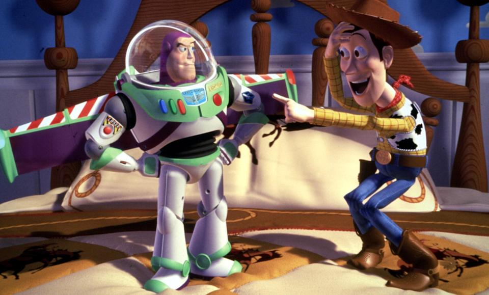"""<h1 class=""""title"""">TOY STORY, Buzz Lightyear, Woody, 1995, (c)Buena Vista Pictures/courtesy Everett Collection</h1><cite class=""""credit"""">Photo: Courtesy Everett Collection</cite>"""