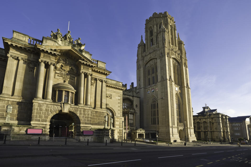 The Wills Memorial Building, part of Bristol University. Bristol confirmed an outbreak among students in halls of residence (Getty Images)