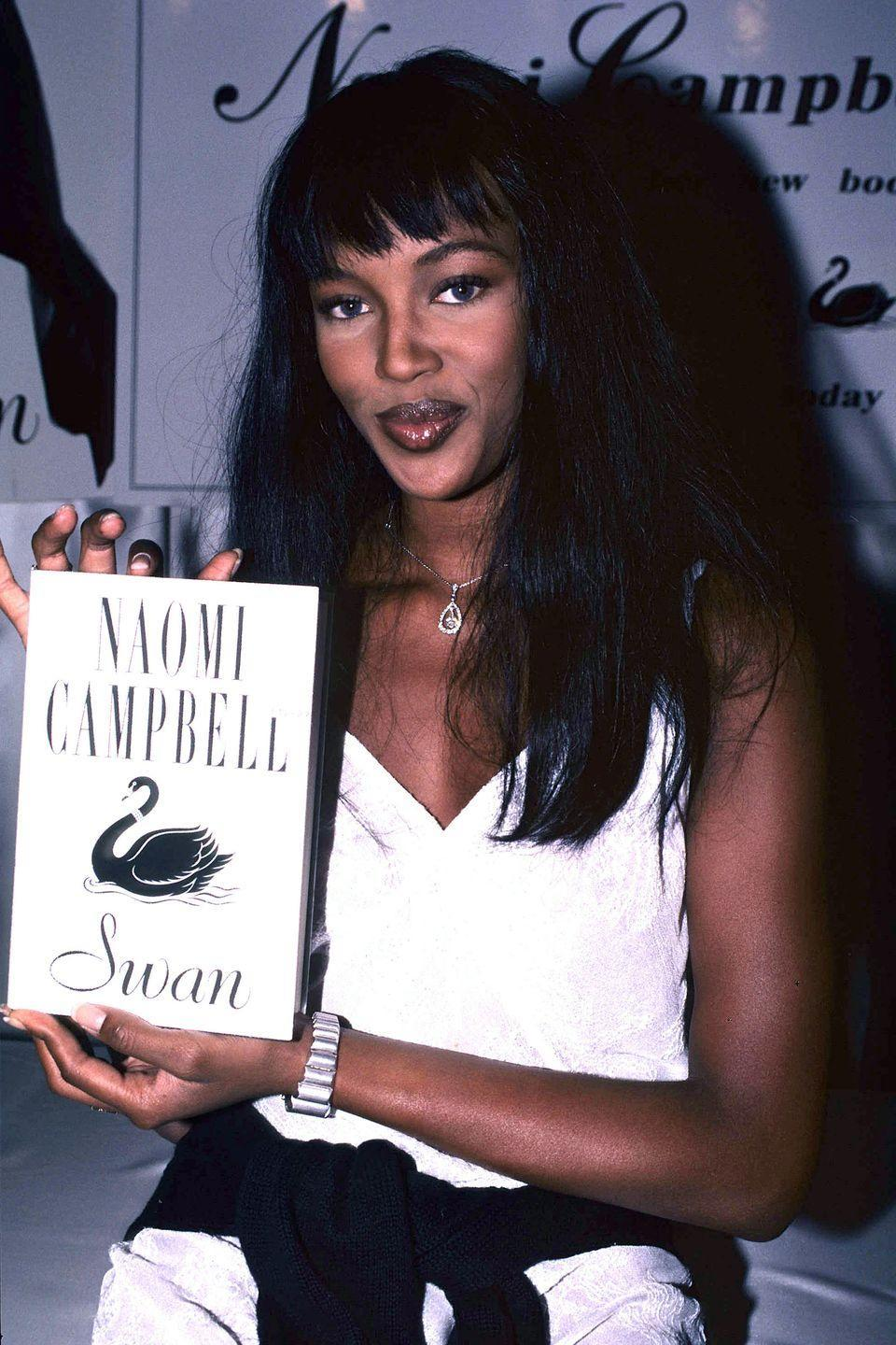 """<p>With the release of Naomi Campbell's first (and only) novel <em>Swan, </em>the buzz came with rumors that the international supermodel maybe wasn't the only person who had penned the story of the world's most successful supermodel who is looking to appoint her successor before she retires. </p><p>According to the <em><a href=""""https://www.independent.co.uk/arts-entertainment/books/features/a-week-in-books-the-art-of-ghostwriting-6111862.html"""" rel=""""nofollow noopener"""" target=""""_blank"""" data-ylk=""""slk:Independent"""" class=""""link rapid-noclick-resp"""">Independent</a></em>, it quickly emerged that most of <em>Swan</em> was written by Naomi's editor, Caroline Upcher, which led the <em>Making the Cut</em> star's agent to state that while Caroline may have been the """"writer"""" or the book, Naomi was the true """"author.""""</p><p>However, the whole affair worked out for both Naomi and Caroline. Caroline went on to write her own novels under her own name and her own pen name. Naomi, of course, continued to slay on runways and magazine covers around the world. </p><p><a class=""""link rapid-noclick-resp"""" href=""""https://www.amazon.com/Swan-Naomi-Campbell/dp/074932208X?tag=syn-yahoo-20&ascsubtag=%5Bartid%7C2140.g.33987725%5Bsrc%7Cyahoo-us"""" rel=""""nofollow noopener"""" target=""""_blank"""" data-ylk=""""slk:Buy the Book"""">Buy the Book</a></p>"""