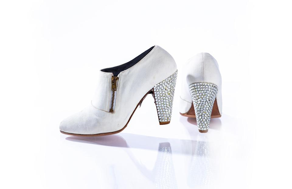 Prince often wore these gem-studded heels throughout his 2004 Musicology Live 4ever Tour. He also wore them during his induction ceremony into the Rock and Roll Hall of Fame that year.