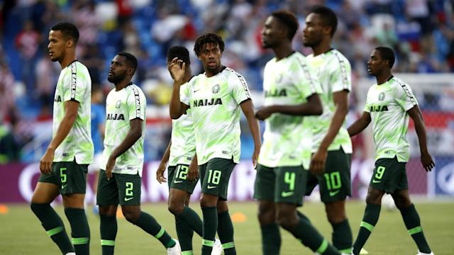 The Super Eagles landed at Pulkovo International Airport on Sunday evening ahead of Tuesday's clash with the South American giants