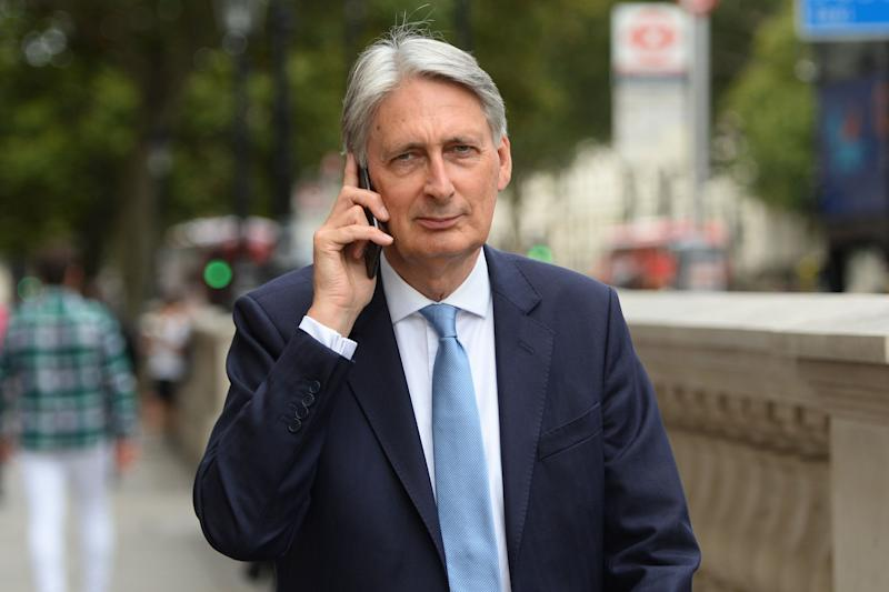 <strong>Former chancellor Philip Hammond in Whitehall, Westminster</strong> (Photo: PA Wire/PA Images)