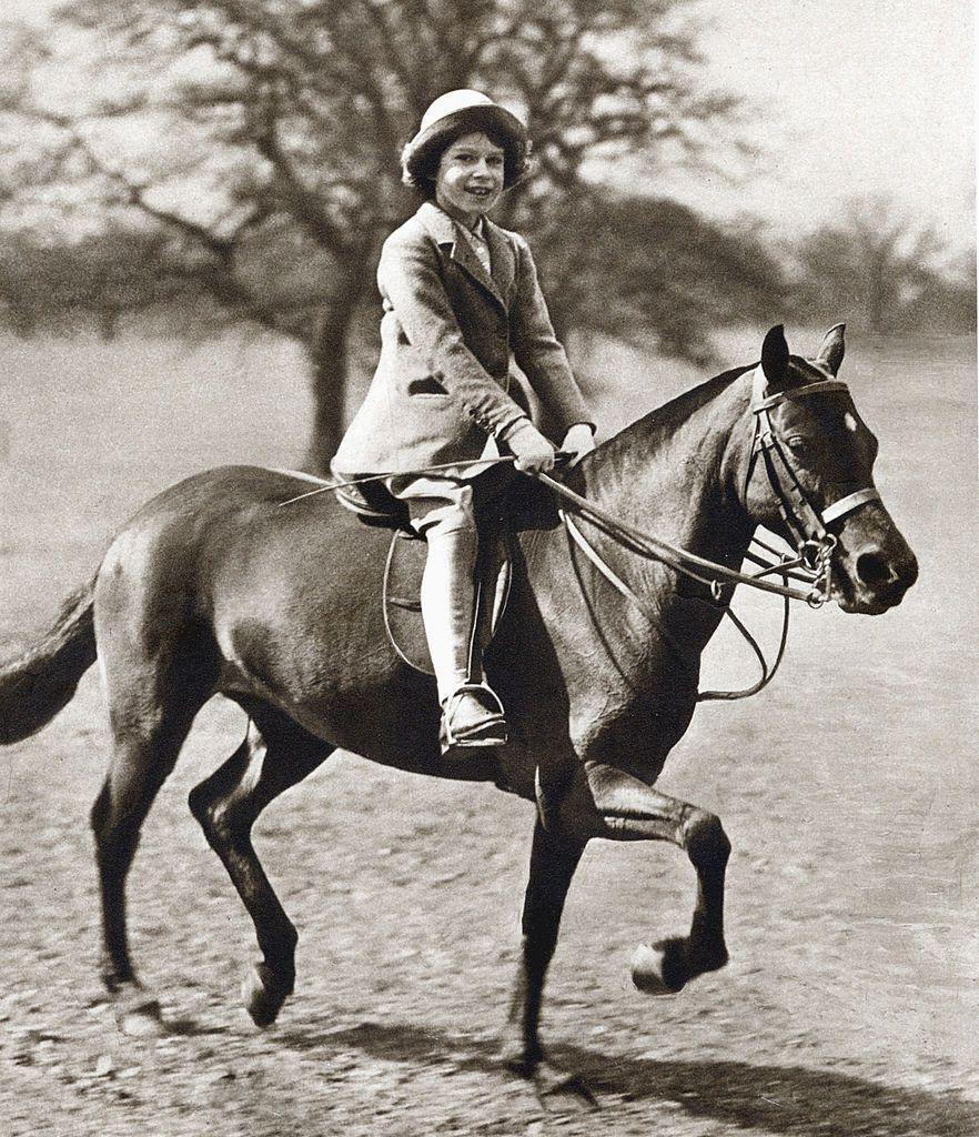 <p>She received her first pony, a Shetland named Peggy, from her grandfather King George V, when she was four years old. </p><p>She still rides at Windsor, Sandringham, and Balmoral.</p>