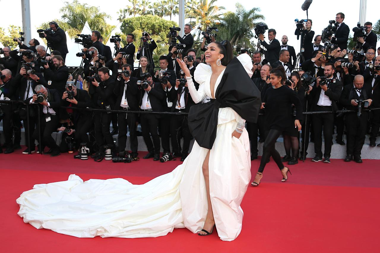 "CANNES, FRANCE - MAY 16: Deepika Padukone attends the screening of ""Rocketman"" during the 72nd annual Cannes Film Festival on May 16, 2019 in Cannes, France. (Photo by Gisela Schober/Getty Images)"