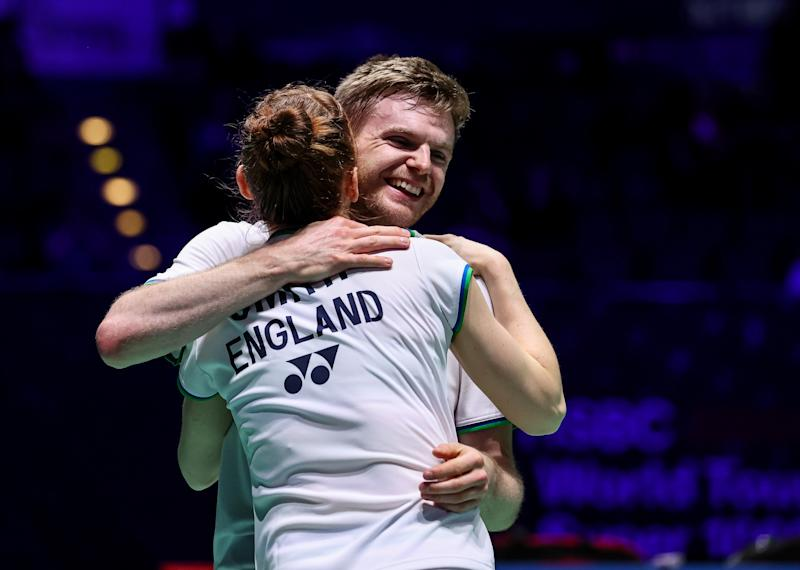Marcus Ellis and Lauren Smith were overcome with emotion after securing their spot in the Yonex All England semi-finals on Friday