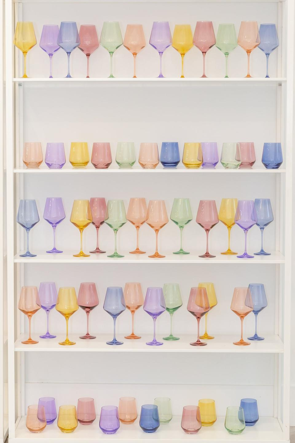 Estelle Coloured Wine Stemless Set of 6