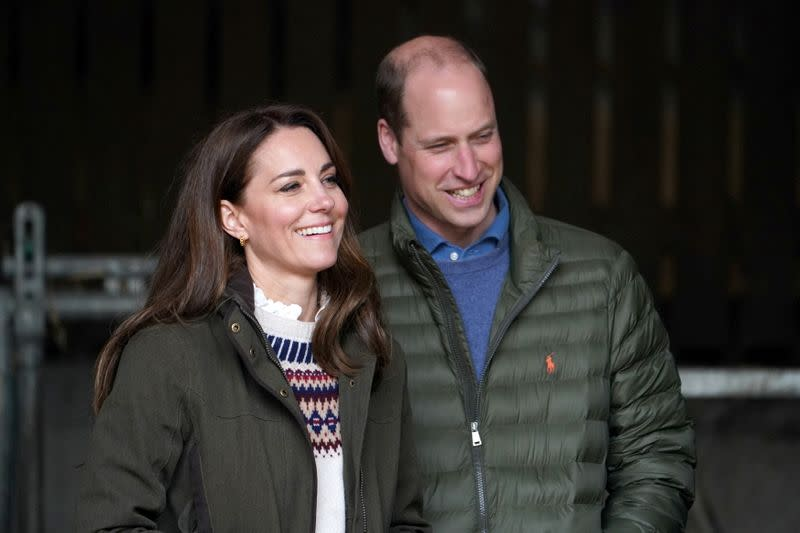 FILE PHOTO: Britain's Prince William and Catherine, Duchess of Cambridge visit Little Stainton