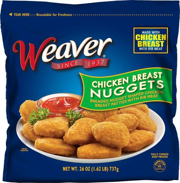 Weaver Chicken Breast Nuggets