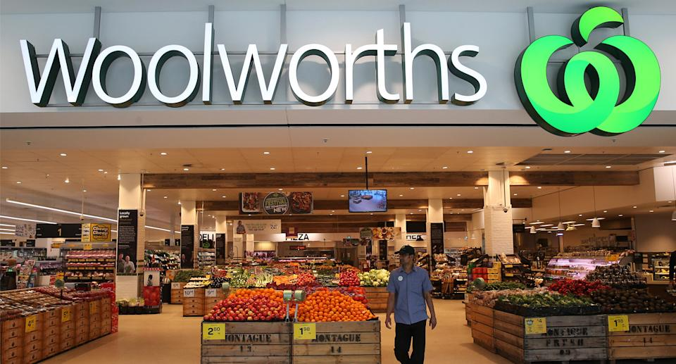 The outside of a Woolworths store.