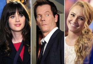 Zooey Deschanel, Kevin Bacon, Hayden Panettiere | Photo Credits: Ray Mickshaw/Fox; Sarah Shatz/Fox; Katherine Bomboy-Thorton/ABC