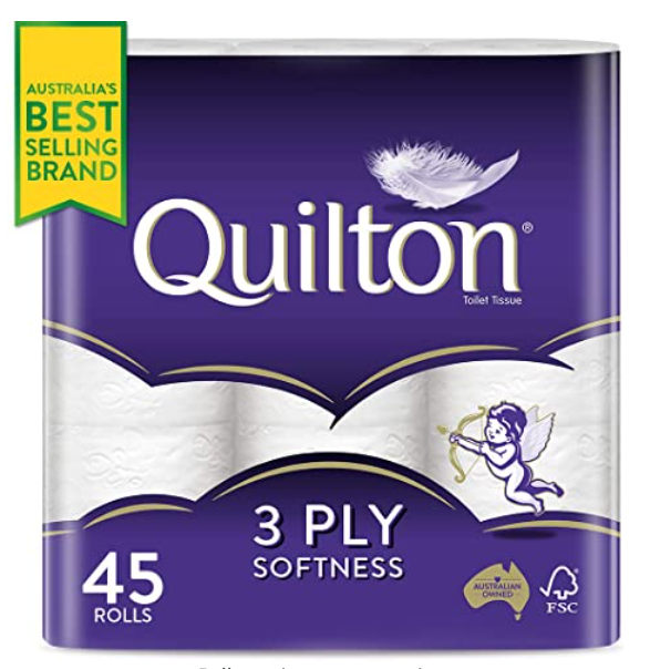 Quilton 3 Ply Toilet Tissue Pack of 45