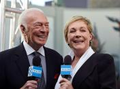 """FILE PHOTO: Cast members Plummer and Andrews are interviewed during the 50th anniversary screening of musical drama film """"The Sound of Music"""" at the opening night gala of the 2015 TCM Classic Film Festival in Los Angeles"""