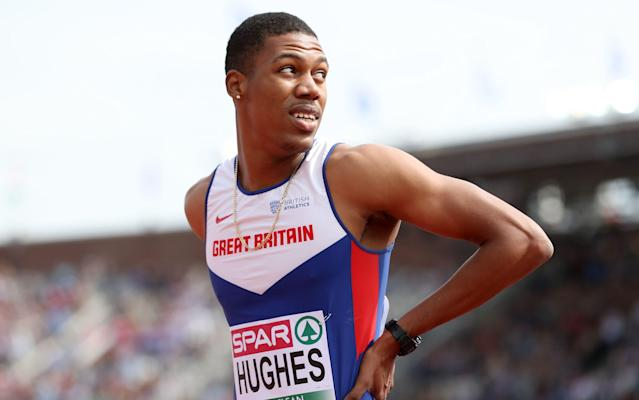 <span>Former Anguilla sprinter Zharnel Hughes also switched allegiance to Britain in 2015</span> <span>Credit: pa </span>