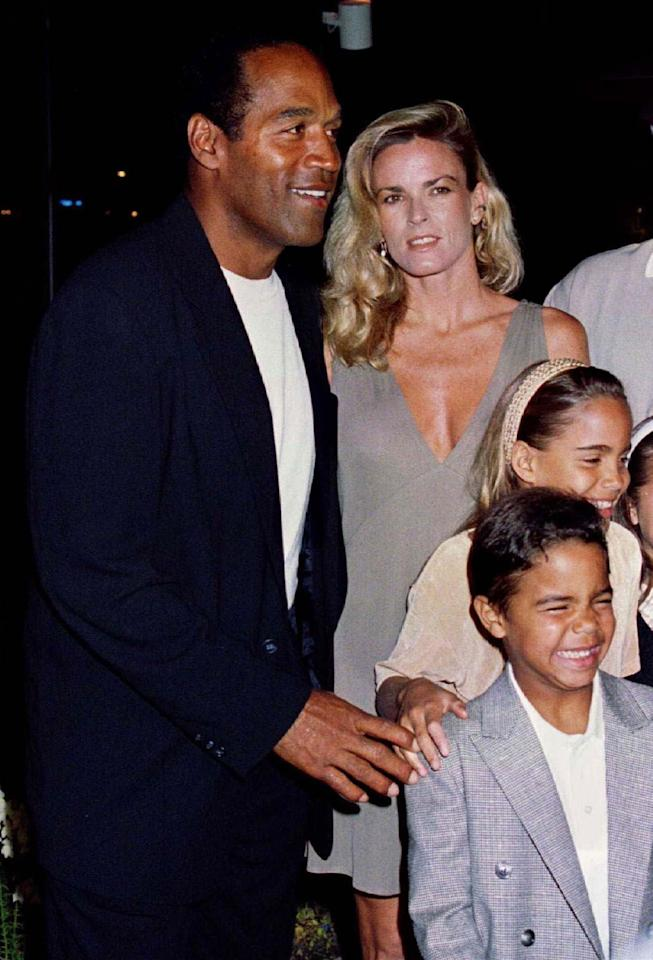 "<p>O.J. Simpson with his ex-wife Nicole Simpson and their children, daughter Sidney Brooke, 9, and son Justin, 6, at the March 16, 1994, premiere of Simpson's new film, ""Naked Gun 33 1/3: The Final Insult,"" in Los Angeles, Calif. (Photo: Fred Prouser/Reuters) </p>"