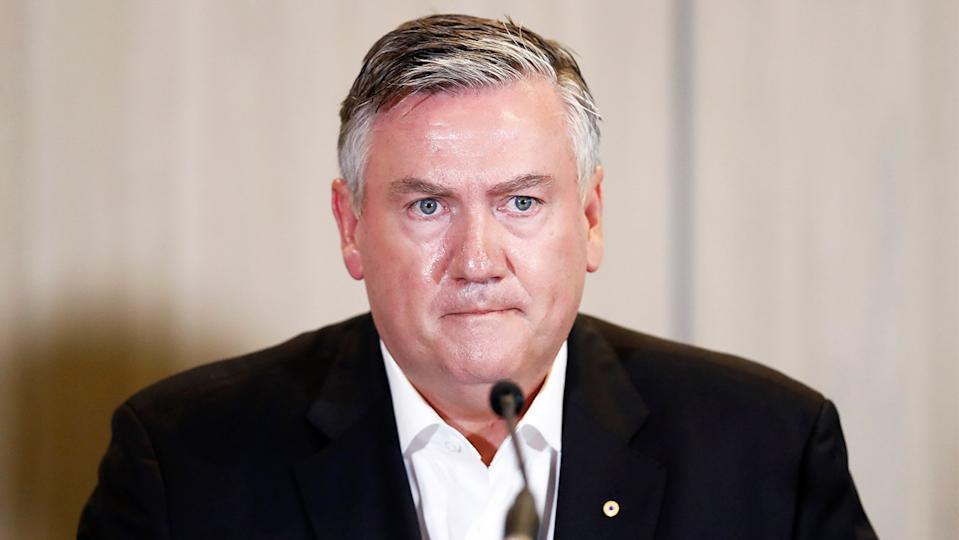 Eddie McGuire (pictured) talking during a press conference.